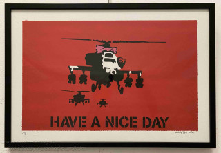 Banksy - Have a nice day - Red